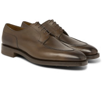 Dover Leather Derby Shoes - Green