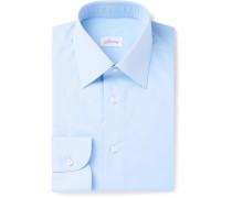 Light-Blue Cotton-Poplin Shirt