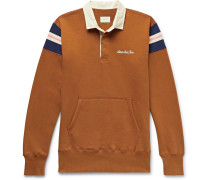 Logo-Embroidered Striped Loopback Cotton-Jersey Rugby Sweatshirt