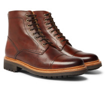 Joseph Cap-toe Burnished-leather Boots - Tan
