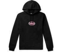 Logo-Appliquéd Fleece-Back Cotton-Blend Jersey Hoodie