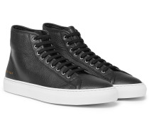 Tournament Full-grain Leather High-top Sneakers