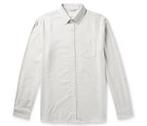 Crosby Button-Down Collar Mélange Cotton-Flannel Shirt