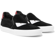 Bag Bugs Leather-trimmed Suede Slip-on Sneakers
