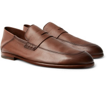 Edward Collapsible-heel Leather Penny Loafers