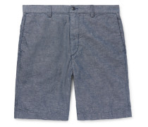 Cotton and Linen-Blend Chambray Shorts