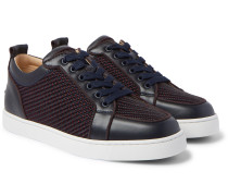 Rantulow Orlato Leather and Raffia Sneakers