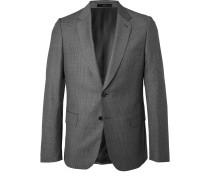 Grey Soho Slim-Fit Puppytooth Wool Suit Jacket