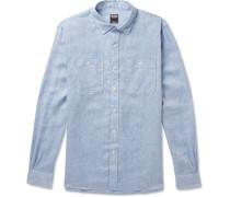 Mélange Linen Shirt - Blue