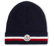 Striped Virgin Wool Beanie