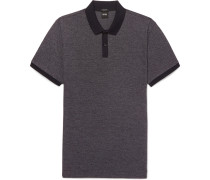 Parley Mélange Textured-cotton Polo Shirt