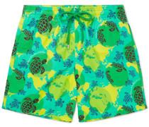 Moorea Slim-fit Mid-length Printed Swim Shorts