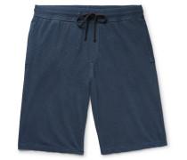 Loopback Supima Cotton-jersey Drawstring Shorts - Navy