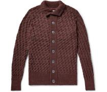 Stark Slim-fit Merino Wool Cardigan - Burgundy