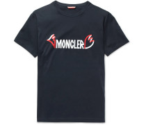 2 Moncler 1952 Printed Cotton-jersey T-shirt