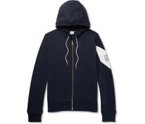 Fleece-back Cotton-jersey Zip-up Hoodie