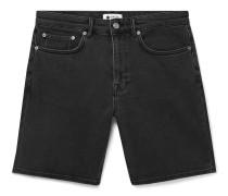 Slim-Fit Stretch-Denim Shorts
