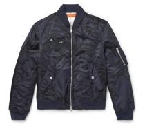 Slim-fit Shell-jacquard Bomber Jacket