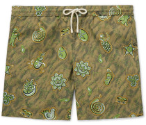 + Paula's Ibiza Mid-length Printed Swim Shorts - Green