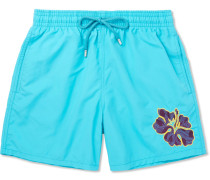 Moorea Mid-length Appliquéd Swim Shorts