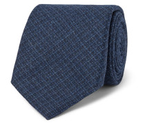 8.5cm Checked Wool And Silk-blend Tie