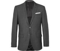 Grey Hutsons Slim-fit Birdseye Wool Blazer