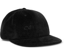 Logo-Embroidered Velvet Baseball Cap
