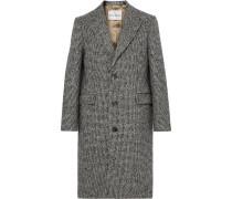 Adrian Houndstooth Wool-blend Overcoat - Gray