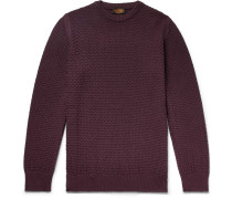 Textured Merino Wool-blend Sweater - Grape