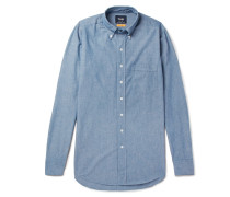 Easyday Slim-fit Button-down Collar Cotton-chambray Shirt