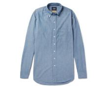 Easyday Slim-fit Button-down Collar Cotton-chambray Shirt - Indigo