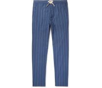 Medway Striped Organic Cotton Pyjama Trousers - Blue