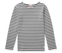 Striped Cotton T-shirt - Gray