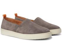 Suede Slip-On Sneakers
