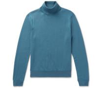 Wool Rollneck Sweater - Blue