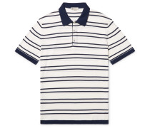 Riviera Slim-fit Striped Knitted Cotton Polo Shirt