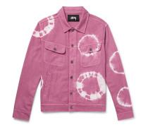Tie-dyed Denim Trucker Jacket