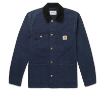 Michigan Corduroy-Trimmed Cotton-Canvas Chore Jacket