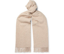 Canada Fringed Wool Scarf - Neutral