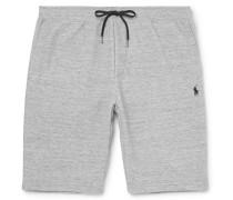 Mélange Jersey Drawstring Shorts