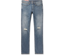 Max Slim-Fit Distressed Denim Jeans