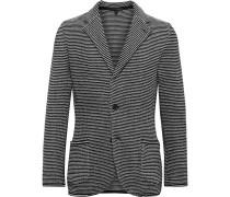 Slim-Fit Striped Cotton-Jacquard Knitted Blazer