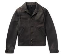 + Mister Freedom Jack's Statesman Corduroy-trimmed Leather Jacket