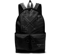 Unfinished Logo-Print Shell Backpack
