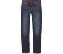 Grim Tim Slim-fit Organic Stretch-denim Jeans - Dark denim