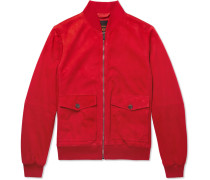 Suede Blouson Jacket - Red