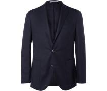 Blue Slim-Fit Wool-Hopsack Blazer
