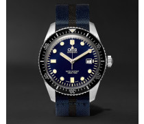 Divers Sixty-five 42mm Stainless Steel And Canvas Watch