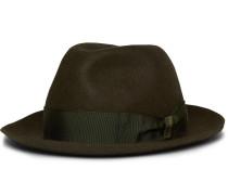 Traveller Rabbit-felt Hat - Green