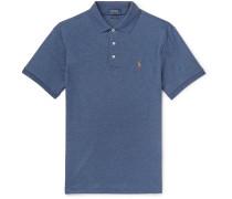 Slim-Fit Mélange Pima Cotton-Jersey Polo Shirt